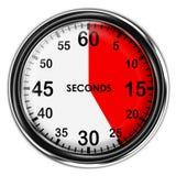 例证金属秒表 图库摄影