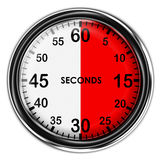 例证金属秒表 免版税图库摄影