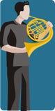 例证音乐家系列 库存图片
