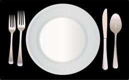 例证餐位餐具向量 免版税图库摄影
