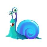 例证:元素集:愉快的蜗牛 库存照片