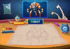 例证:火星的类:R -机器人 免版税库存照片