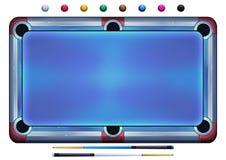 例证:水池球,落袋撞球球,在白色背景的撞球HD 免版税库存图片