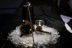 侍酒者用工具加工设备 免版税库存照片