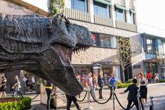 侏罗纪世界:下落的王国增进暴龙rex T雷克斯 图库摄影