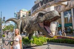 侏罗纪世界:下落的王国增进暴龙rex T雷克斯 库存图片