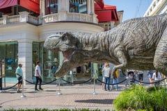 侏罗纪世界:下落的王国增进暴龙rex T雷克斯 免版税库存照片