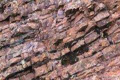 侏罗纪岩石在Mt蝙蝠鱼国家公园分层堆积 免版税库存照片