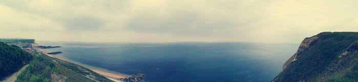 侏罗纪海岸全景 库存照片
