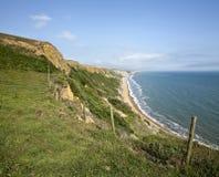 侏罗纪海岸在多西特 免版税库存图片