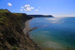 侏罗纪海岸线,多西特,英国 库存照片