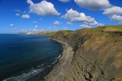侏罗纪海岸线,多西特,英国 免版税图库摄影