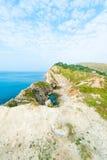 侏罗纪海岸 免版税库存照片