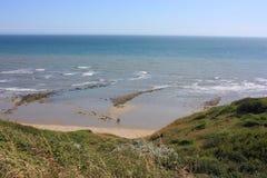 侏罗纪海岸charmouth多西特 免版税图库摄影