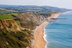 侏罗纪的海岸线 库存图片