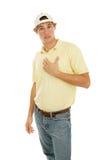 供以人员年轻人的我 免版税库存照片