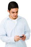 供以人员移动电话使用 免版税库存图片