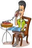 供以人员联系的电话 免版税图库摄影