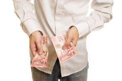 供以人员计数货币 免版税库存图片