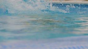 供以人员跳进游泳池 影视素材