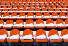 供以座位体育场 库存照片