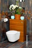 供以座位洗手间 免版税图库摄影