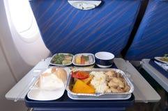 飞机膳食 库存图片