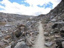 供徒步旅行的小道在国王峡谷国家公园 库存照片