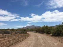 供徒步旅行的小道在墨西哥 库存照片