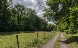 供徒步旅行的小道在诺曼底,法国 免版税图库摄影