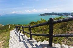 供徒步旅行的小道在香港 图库摄影