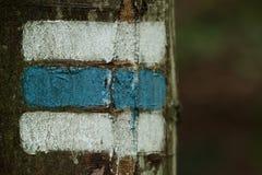 供徒步旅行的小道标记 库存图片