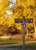 供徒步旅行的小道符号 库存图片