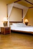 供有四根帐杆的卧床住宿 免版税库存照片