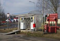 供气国内圆筒装填的分配器有丙烷的 库存照片