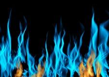 供气灼烧的火火焰在黑背景的 向量例证
