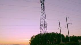 供给的定向塔和平衡可耕的领域的秋天动力户外 股票录像