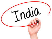 供以人员写有黑标志的手印度在视觉屏幕 库存图片