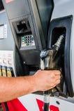 供以人员到达的手拾起气泵 免版税图库摄影