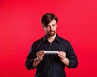 供以人员对负空白与月12月的名字 免版税库存照片