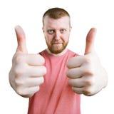 供以人员显示他的手,那所有很好是 库存照片