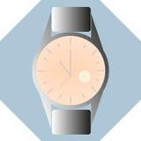 供以人员用时钟的里面不同的类型的手表现代样式 图库摄影