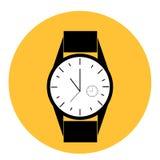 供以人员用时钟的里面不同的类型的手表现代样式 库存照片