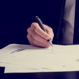 供以人员研究介绍或性能分析 库存照片