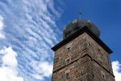 供水系统塔在布拉格 免版税库存照片