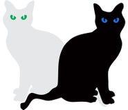 供以座位传染媒介的猫 免版税图库摄影