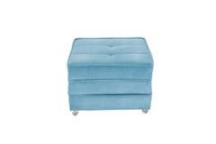 供以座位舒适蓝色床沙发蒲团床 免版税库存图片