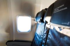 供以座位行飞机 库存图片