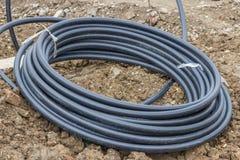 供水的滚动的pvc管子 免版税库存图片