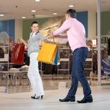 依赖性购物 免版税图库摄影